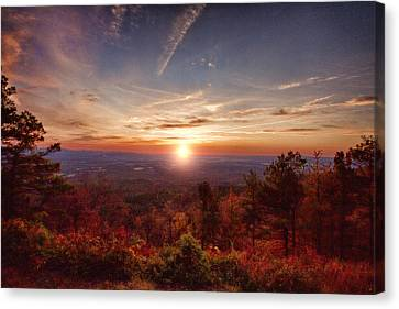 Sunrise-talimena Scenic Drive Arkansas Canvas Print by Douglas Barnard