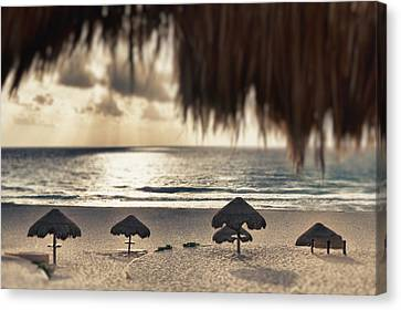 Sunrise Viewed From The Beach Canvas Print by Bryan Mullennix