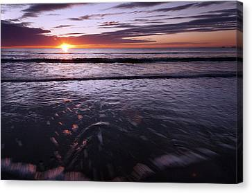 Suns Up Tides In Canvas Print by Glenn Gordon