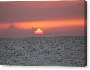 Canvas Print featuring the photograph Sunset - Cuba by David Grant