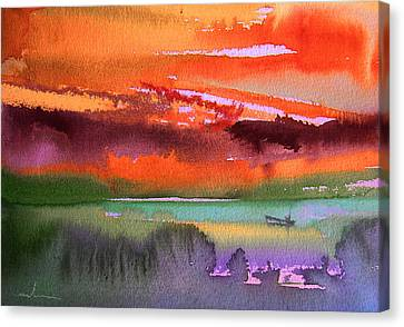 Sunset 04 Canvas Print by Miki De Goodaboom
