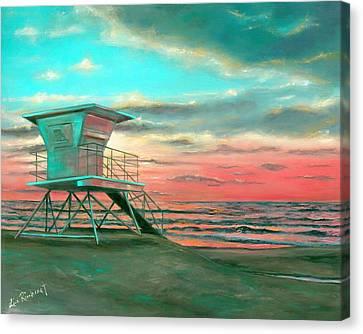 Sunset 1 Canvas Print by Lisa Reinhardt