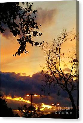 Canvas Print featuring the photograph Sunset 2 by Jasna Gopic