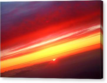 The Lightning Man Canvas Print - Sunset Above The Clouds by James BO  Insogna