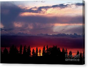 Canvas Print featuring the photograph Sunset After Storm by Charles Lupica