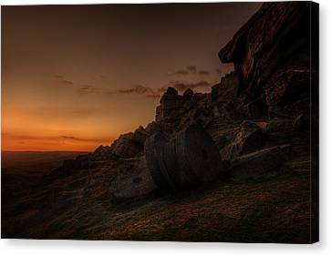 Sunset Afterglow Canvas Print by Andy Astbury