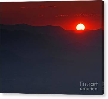 Sunset At Brasstown Bald Canvas Print