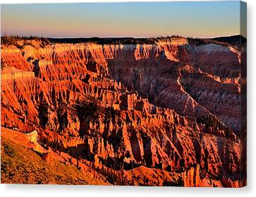 Sunset At Cedar Breaks Canvas Print by Mark Bowmer