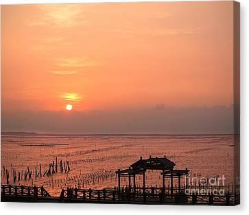 Sunset At Cigu Bay Canvas Print by Yali Shi