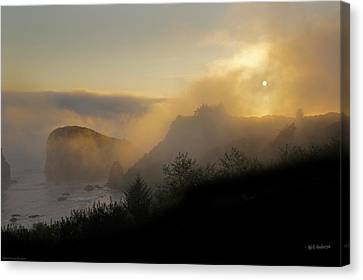 Canvas Print featuring the photograph Sunset At Harris Beach by Mick Anderson