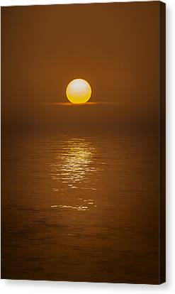 Sunset At Hoopers Point Canvas Print by Andy Astbury