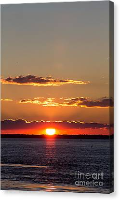 Sunset At Indian River 3 Canvas Print