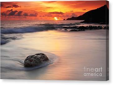 Sunset At Kalim Beach Phuket Thailand Canvas Print