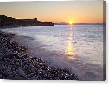 Sunset At Kilve Beach, Somerset Canvas Print by Nick Cable