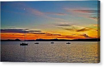 Sunset At Lake Memphremagog - Qc Canvas Print by Juergen Weiss