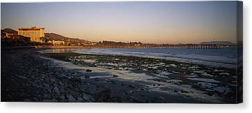 Sunset At Low Tide On Ventura Beach Canvas Print by Rich Reid