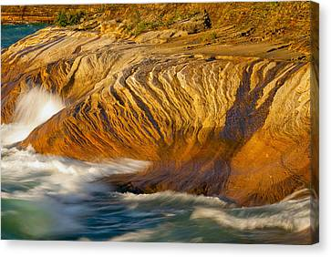 Sunset At Pictured Rocks Canvas Print