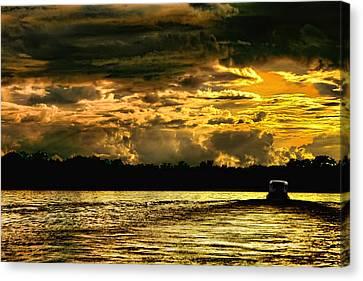 Sunset At Ri Negro Canvas Print