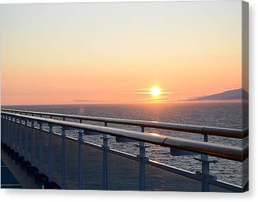 Sunset At Sea 2 Canvas Print