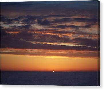 Sunset At Surfside 4 Canvas Print by Peter Mooyman