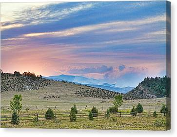 Fort Collins Canvas Print - Sunset At The Colorado High Park Wildfire  by James BO  Insogna