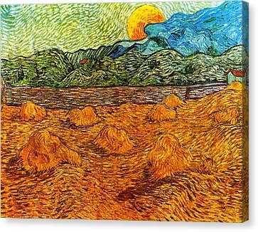 Sunset At The Hills Canvas Print by Sumit Mehndiratta