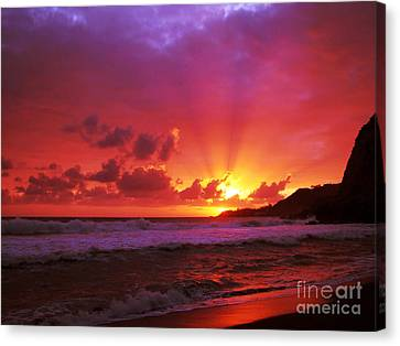 Sunset At The Island Canvas Print by Gaspar Avila
