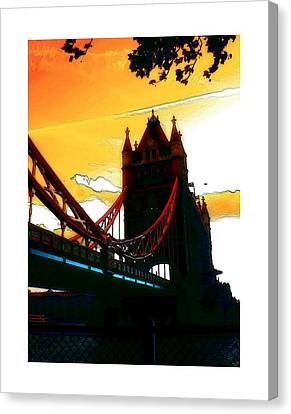 Sunset At Tower Brigde Canvas Print by Steve K