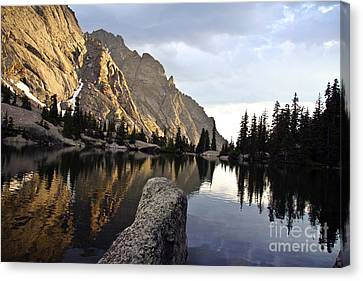 Sunset At Willow Lake Canvas Print by Scotts Scapes