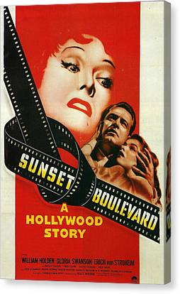 Sunset Boulevard Canvas Print by Georgia Fowler