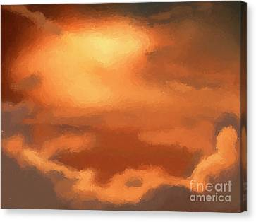 Beautiful Scenery Canvas Print - Sunset Clouds by Pixel Chimp