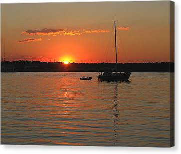 Canvas Print featuring the photograph Sunset Cove by Clara Sue Beym
