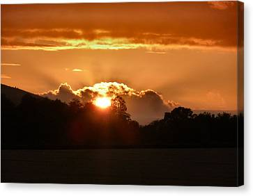 Sunset Canvas Print by Debra Collins