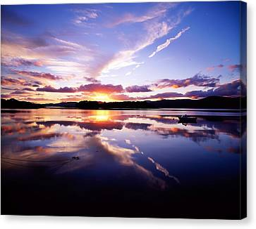 Sunset, Dinish Island Kenmare Bay Canvas Print by The Irish Image Collection
