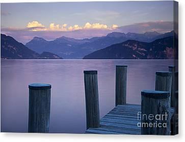 Sunset Dock Canvas Print by Brian Jannsen