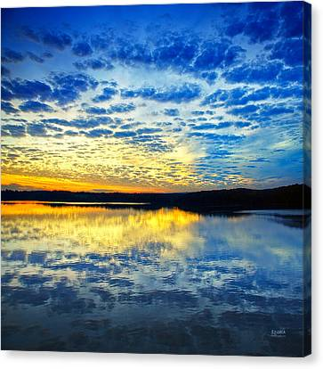 Sunset From Hwy 60 Canvas Print by Steven Llorca