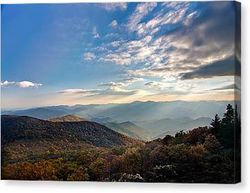 Canvas Print featuring the photograph Sunset From The Bald by Dan Wells