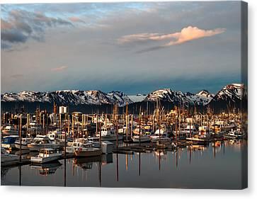 Sunset In Alaska Canvas Print by Jason Smith