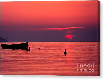 Canvas Print featuring the photograph Sunset In Elba Island by Luciano Mortula