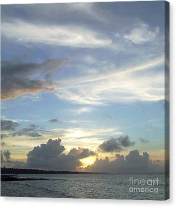 Sunset In Majuro Canvas Print by Andrea Anderegg
