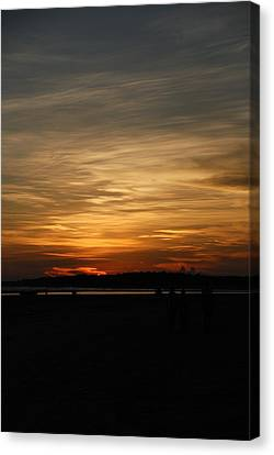 Canvas Print featuring the photograph Sunset In Pastels by Fotosas Photography