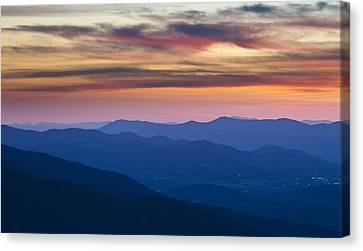 Sunset In Shenandoah National Park Canvas Print by Pierre Leclerc Photography