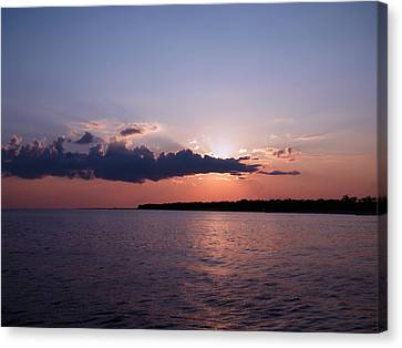 Canvas Print featuring the photograph Sunset In The Pass by Brian Wright