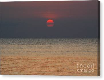 Sunset In Zanzibar Canvas Print by Alan Clifford