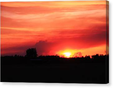 Sunset Canvas Print by Johanna Bruwer