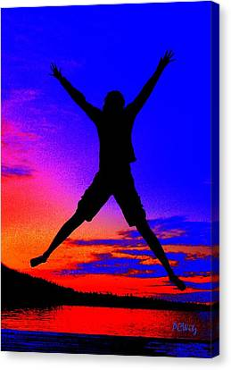 Canvas Print featuring the photograph Sunset Jubilation by Patrick Witz