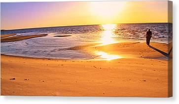 Canvas Print featuring the photograph Sunset by Kelly Reber