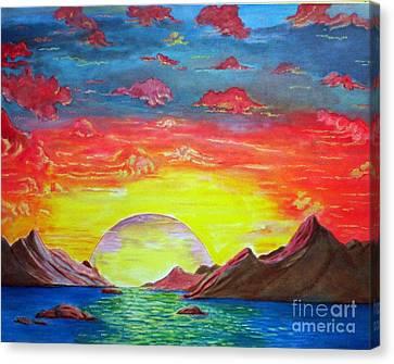 Sunset Canvas Print by Kostas Dendrinos