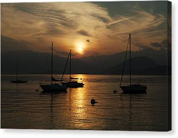 Sunset Lake Maggiore Canvas Print by Joana Kruse