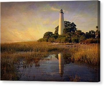 Sunset Lighthouse 3 Canvas Print by Marty Koch
